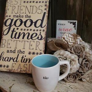 Rae Dunn Coffee Mug ---BLISS-----